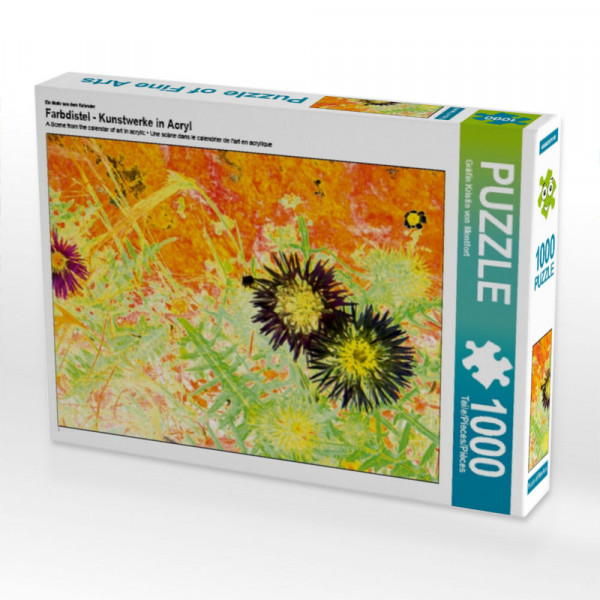 Puzzle Farbdistel - Kunstwerke in Acryl