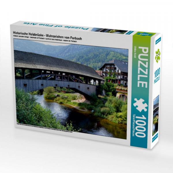 Puzzle Historische Holzbrücke - Wahrzeichen von Forbach