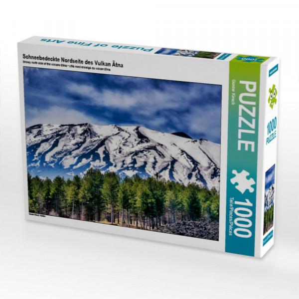 Puzzle Schneebedeckte Nordseite des Vulkan Ätna