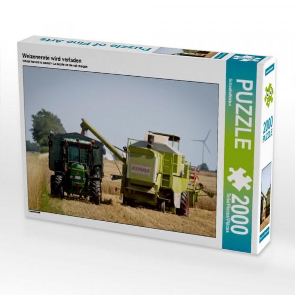 Landwirtschaft Puzzle Weizenernte wird verladen 2000 Teile Puzzle quer Motiv 1 Bild 1