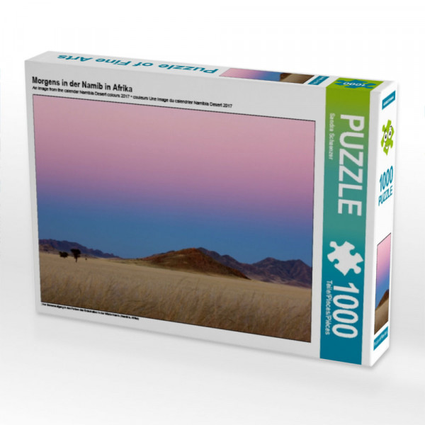 Puzzle Morgens in der Namib in Afrika