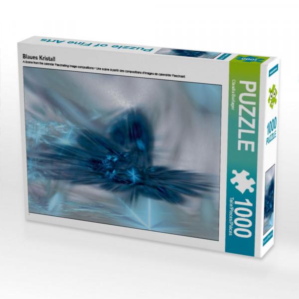 Blaues Kristall Puzzle 1