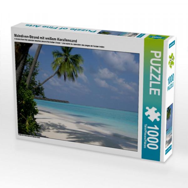 Puzzle Malediven-Strand mit weißem Korallensand