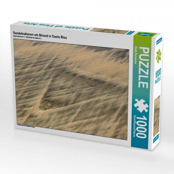 Puzzle Sandstrukturen am Strand in Costa Rica