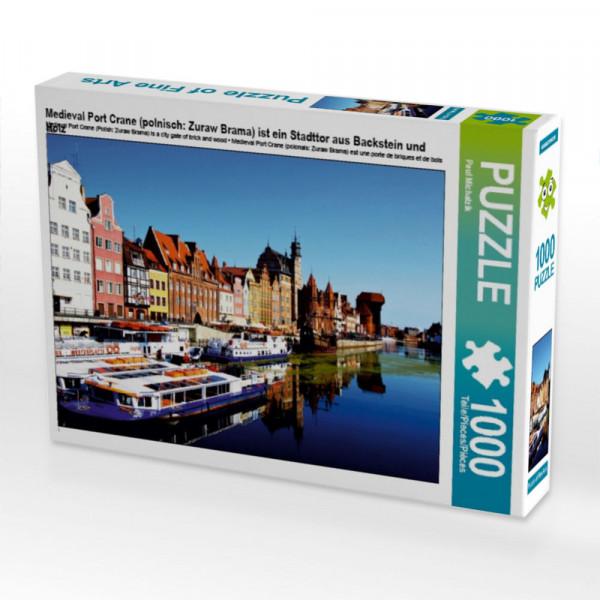 Puzzle Medieval Port Crane polnisch: Zuraw Brama ist ein Stadttor aus Backstein und Holz