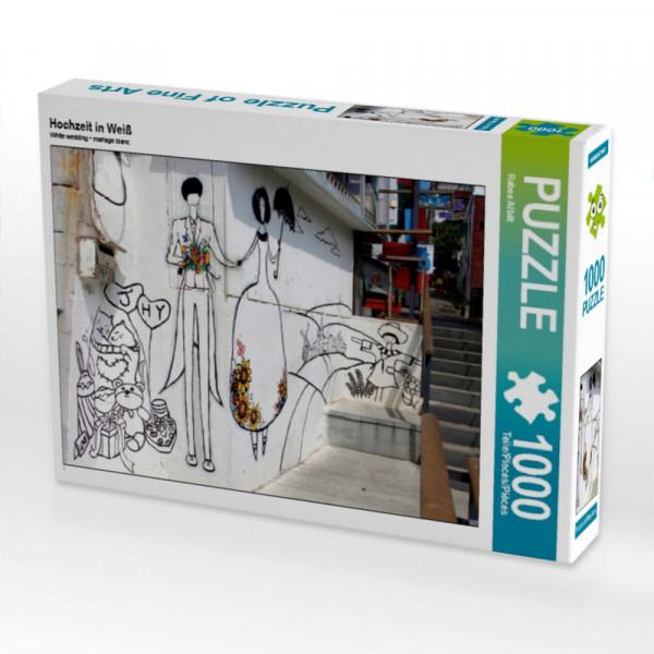 Puzzle Hochzeit in Weiß