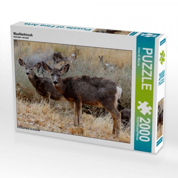 Tiere der Great Plains Puzzle Maultierhirsch 2000 Teile Puzzle quer Motiv 1 Bild 1
