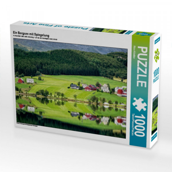Puzzle Ein Bergsee mit Spiegelung