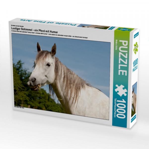 Puzzle Lustiger Schimmel - ein Pferd mit Humor