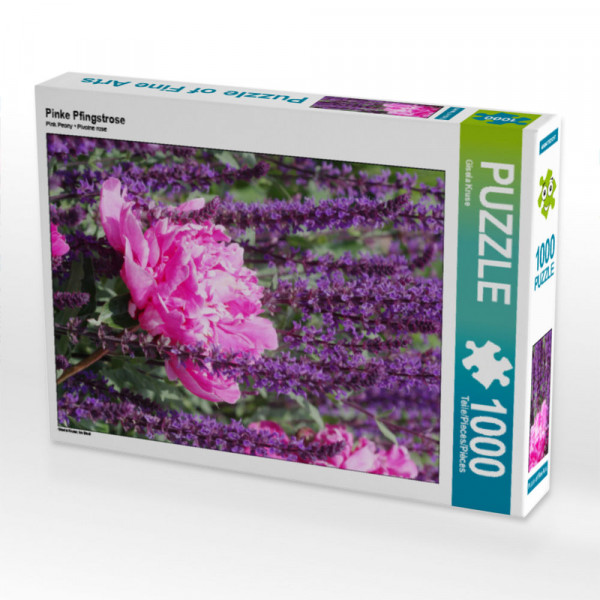 Puzzle Pinke Pfingstrose