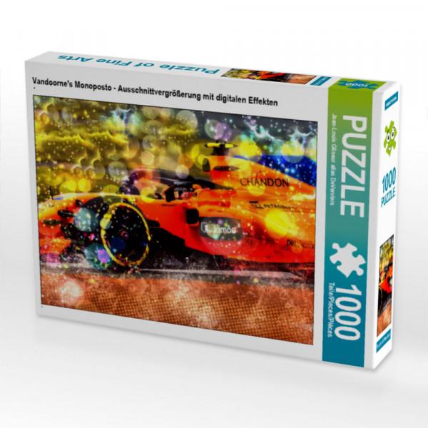 Puzzle Vandoornes Monoposto - Ausschnittvergrößerung mit digitalen Effekten