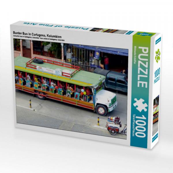Puzzle Bunter Bus in Cartagena Kolumbien