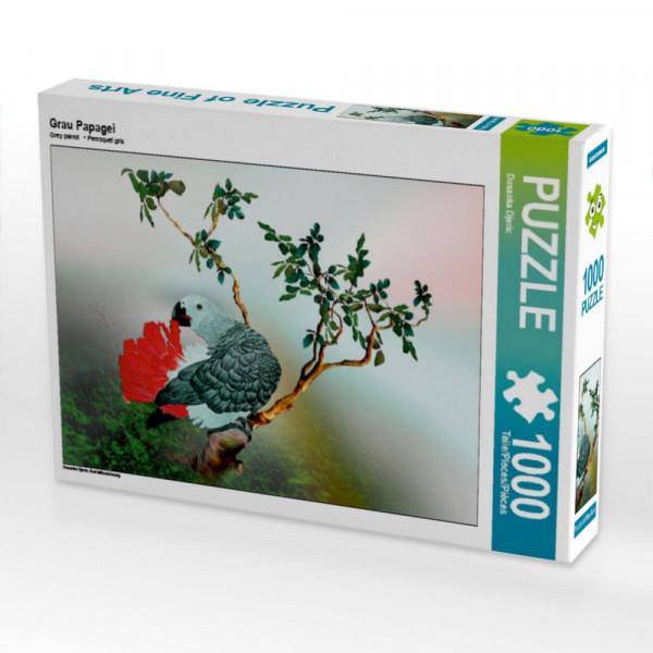 Puzzle Grau Papagei