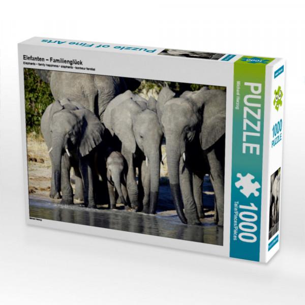 Puzzle Elefanten – Familienglück