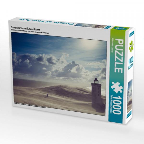 Puzzle Sandsturm am Leuchtturm