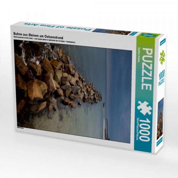 Puzzle Buhne aus Steinen am Ostseestrand